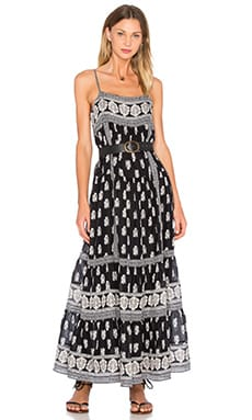 Knightly Maxi Dress en Caviar