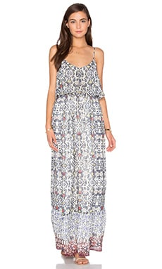 Balla B Maxi Dress en Imprimé Bleu