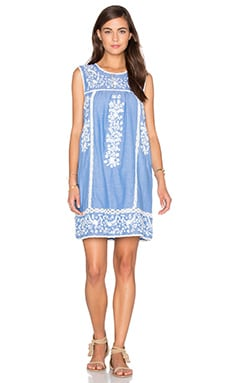 Joie Ashawa Dress in Washed Denim & Porcelain