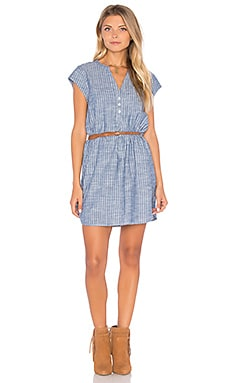 Neha Chambray Dress en Sailor Blue