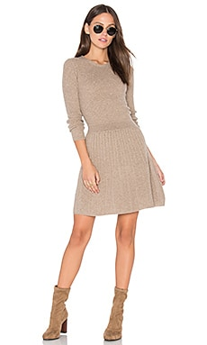 Peronne Sweater Dress en Heather Coffee