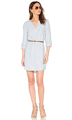 Rathana C Dress in Light Washed Chambray