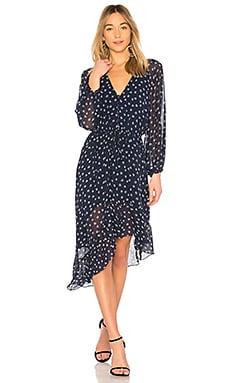 Купить Платье с асимметричным подолом alithea - Joie синего цвета