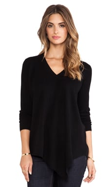 Joie Tambrel B V Neck Sweater in Caviar