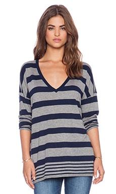 Joie Chyanne Sweater in Heather Grey & Dark Navy