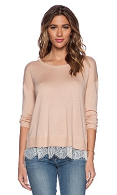 Joie Hilano C Sweater in Dusty Pink & Porcelain