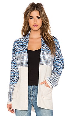 Joie Radegonde Cardigan in Heather Cream, Deep Sapphire & Tile Blue