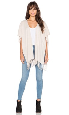 Joie Lucrece Fringe Sweater Vest in Heather Cream