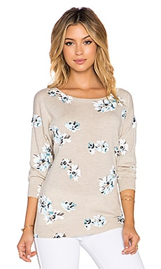 Joie Eloisa B Floral Sweater in Heather Oatmeal