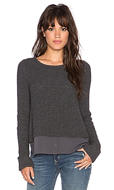 Joie Frene Sweater in Dark Heather Grey & Charcoal