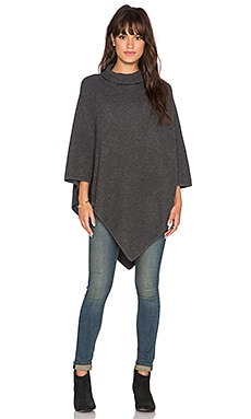 Loysse Turtleneck Poncho in Dark Heather Grey