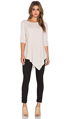 Joie Tambrel Long Sleeve Top in Heather Cream