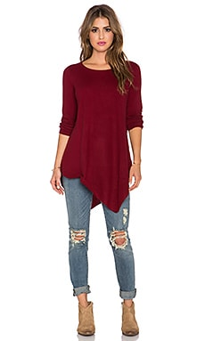 Joie Tambrel Long Sleeve Top in Deep Scarlet