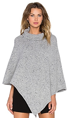 Joie Haesel Cashmere Poncho in Light Heather Grey