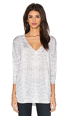 Joie Chyanne Snake Printed Sweater in Vapor Grey
