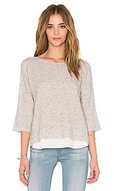 Symphorinne Sweater in Light Heather Grey & Porcelain