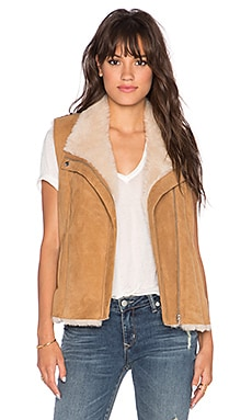 Joie Brinley Lamb Fur Suede Vest in Natural