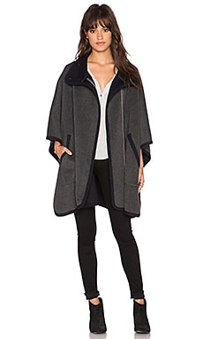 Joie Kenzie Cape in Grey & Dark Navy