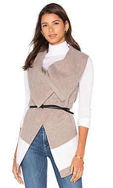 Joie Ligere Wool Vest in Heather Mushroom & Porcelain
