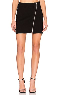 Joie Tyree Mini Skirt in Caviar