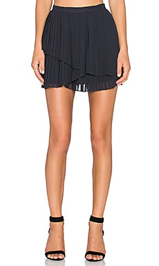 Joie Avenia Pleated Skirt in Caviar