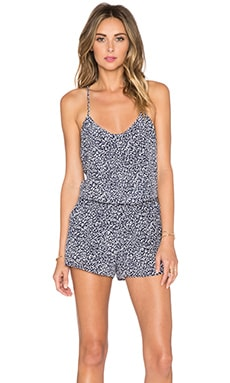 Joie Lawanda Romper in Dark Navy & Porcelain