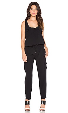 Joie Vernay Drawstring Jumpsuit in Caviar
