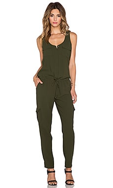 Joie Vernay Drawstring Jumpsuit in Military
