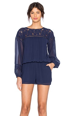 Jevin Romper in Dark Navy