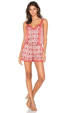 Joie Sophy Romper in Coral Rose