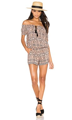 Machiko Romper in Canyon Brown