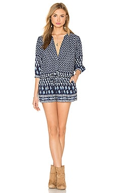 Joie Solstice Silk Romper in Dark Navy