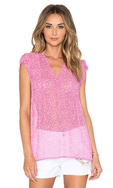 Joie Macy B Top in Orchid & Porcelain