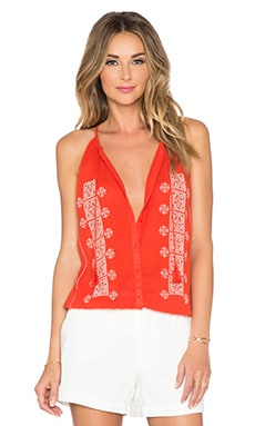 Joie Danelle Tank in Paradise Red & Porcelain
