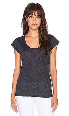 Joie Yamila Short Sleeve Tee in Heather Charcoal