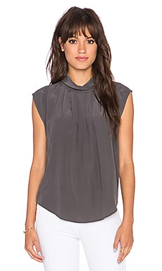 Joie Chinara Short Sleeve Top in Dark Cinder