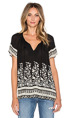 Joie Pounella Short Sleeve Top in Caviar