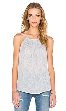 Joie All Over Lace Amarey Tank in Porcelain & Silverfox