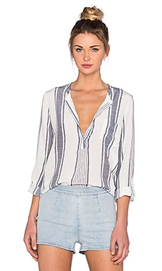 Joie Oden Top in Porcelain & Stripe