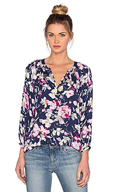 Joie Mckenna Top in Dark Navy & Bright Freesia