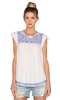 Joie Rankin Top in Porcelain & Bluebell