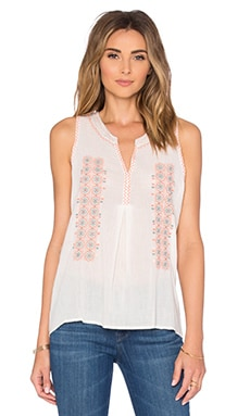 Joie Mari Tank in Porcelain & Pale Peach