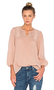 Joie Folk Top in Sandshell