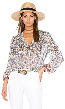 Frazier B Blouse in Blue Print