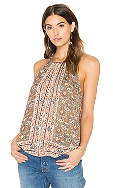 Joie Bradie Silk Tank in Fatigue