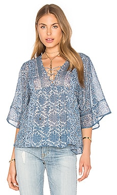 Joie Scorpio Silk Blouse in Faded Sky