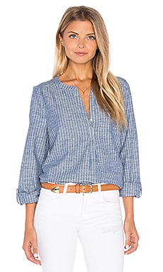Joie Kalan Chambray Blouse in Sailor Blue