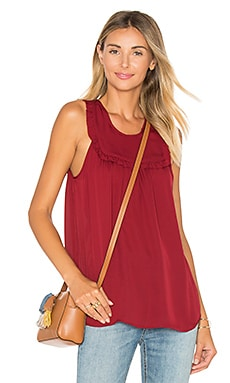 Gemini Silk Tank en Bordeaux Rose