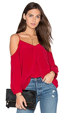Eclipse Cold Shoulder Blouse in Ruby