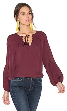 Ezbeth Silk Blouse in Raisin